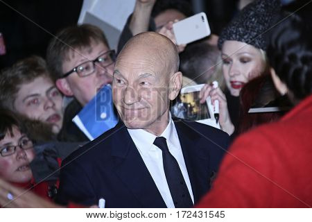 BERLIN, GERMANY - FEBRUARY 17: Actor Patrick Stewart atends the 'Logan' premiere during the 67th Berlinale Film Festival Berlin at Berlinale Palace on February 17, 2017 in Berlin, Germany.