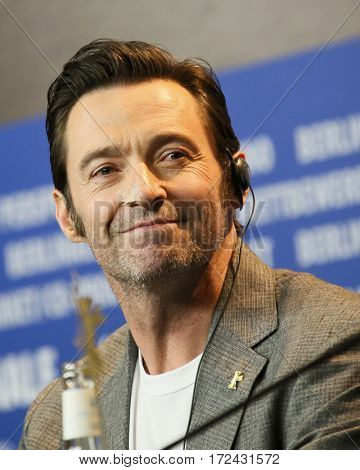 BERLIN, GERMANY - FEBRUARY 17: Actor Hugh Jackman attends the 'Logan' (Masaryk) press conference during the 67th Berlinale  Festival Berlin at  Hyatt Hotel on February 17, 2017 in Berlin, Germany.