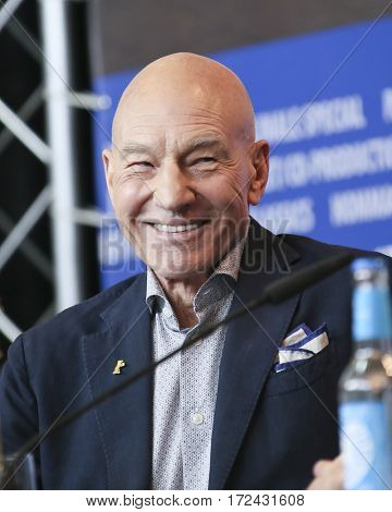 BERLIN, GERMANY - FEBRUARY 17:  Patrick Stewart attends the 'Logan' (Masaryk) press conference during the 67th Berlinale Festival Berlin at Grand Hyatt Hotel on February 17, 2017 in Berlin, Germany