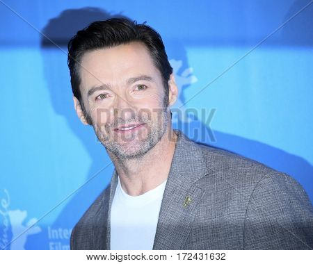 Berlin, Germany - February 17, 2017: actor Hugh Jackman attends the 'Logan' premiere and photo call during the 67th Berlinale International Film Festival Berlin at Berlinale Palace