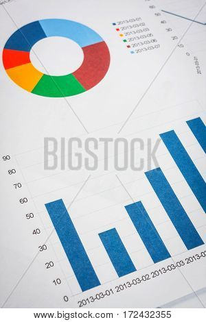 Business Documents At Workplace, Financial Report, Close Up