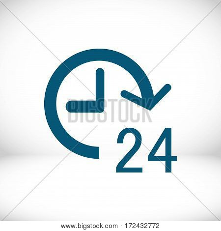 24 hours icon  stock vector illustration flat design