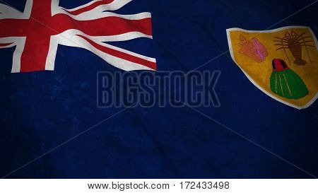 Dirty Grunge Flag Of Turks And Caicos Islands - 3D Illustration
