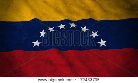 Grunge Flag Of Venezuela - Dirty Venezuelan Flag 3D Illustration