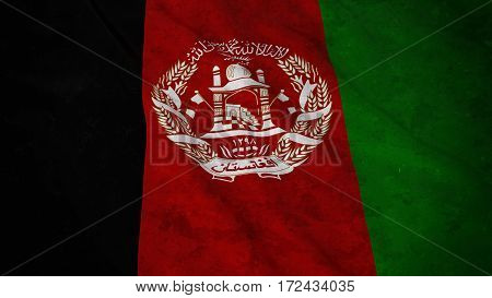 Grunge Flag Of Afghanistan - Dirty Afghan Flag 3D Illustration