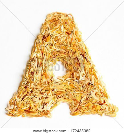 The yellow candy letter A.