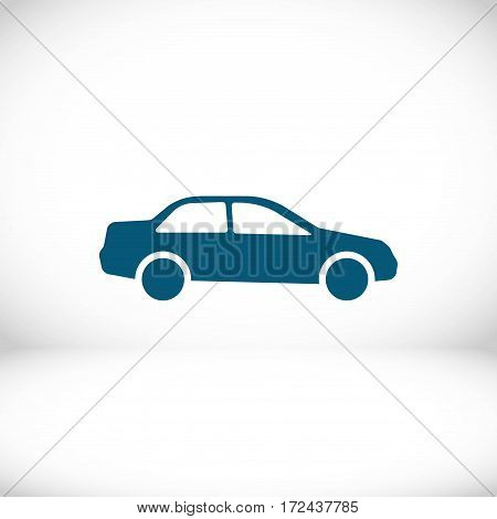 car icon stock vector illustration flat design