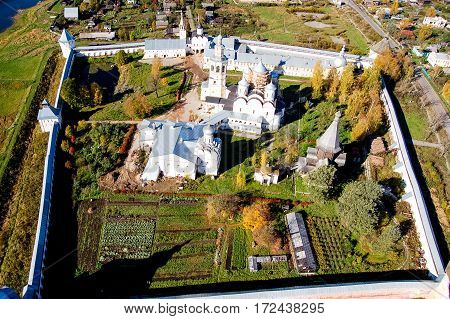 Vologda City Bird's-eye View. Aerophotographing Vologda. Houses