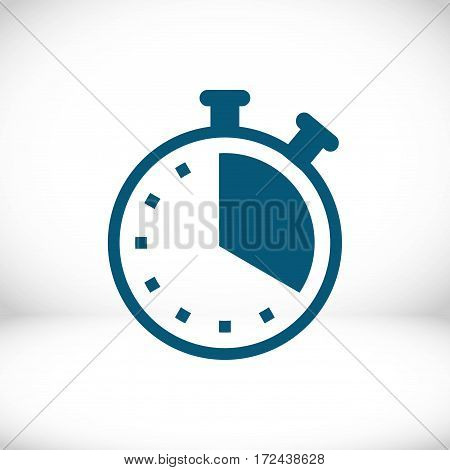 clock icon stock vector illustration flat design