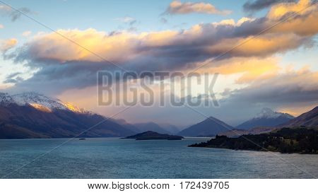 View From Bennetts Bluff Viewpoint Near Queenstown, New Zealand