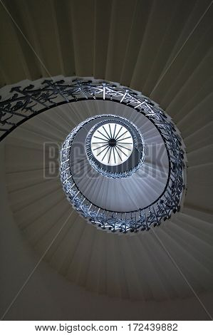 spiral staircases in old royal navy college