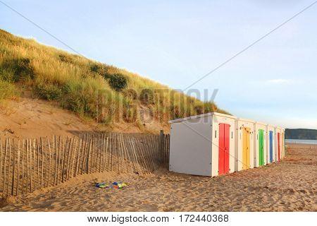 In woolacombe beach, devon, england, uk
