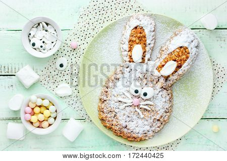 Cooking Easter bunny cake Easter recipe step by step