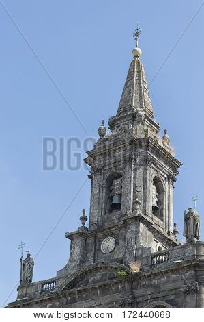 Steeple of the Porto Tourism Oporto Portugal