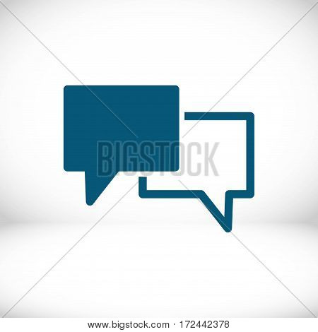 Speech Bubbles Icon. Chat pictogram icon stock vector illustration