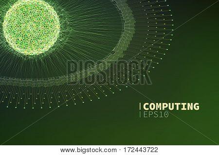 Abstract computing illustration. Information filtering. data mining banner
