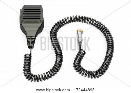 Push-to-talk microphone switch PTT 3D rendering isolated on white background