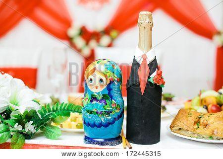 Russian nesting dolls. Matryoshkas. Set of 2 pieces