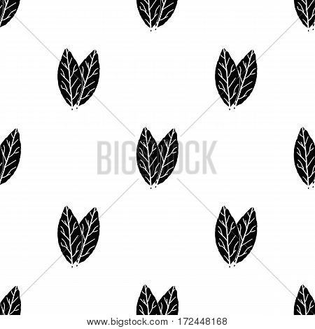 Laurus icon in black style isolated on white background. Herb an spices pattern vector illustration.