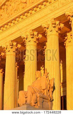 The United States Supreme Court in Washington DC, USA