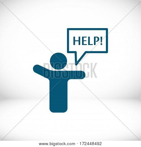 man with his hands asks for help
