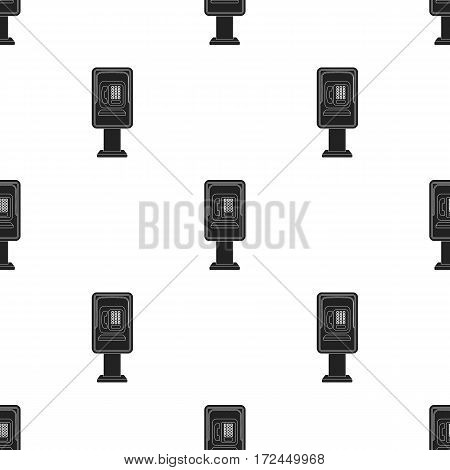 Payphone icon in black style isolated on white background. Park pattern vector illustration.