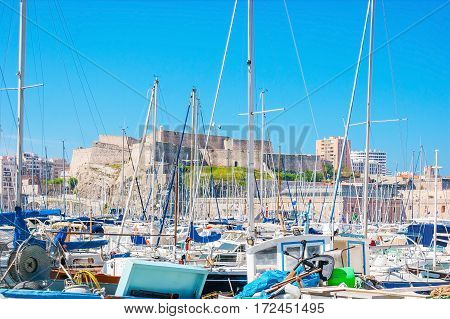In Old Port Of Marseille