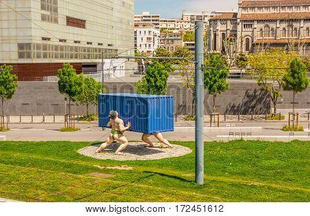 Boulevard De Paris In Marseille