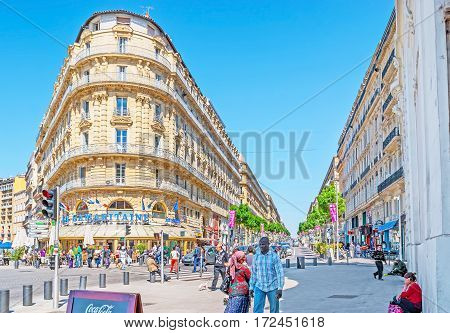 The Shopping Street Of Marseille