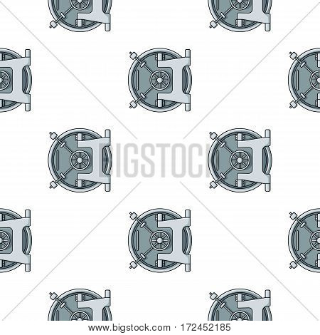 Bank vault icon in cartoon style isolated on white background. Money and finance pattern vector illustration.
