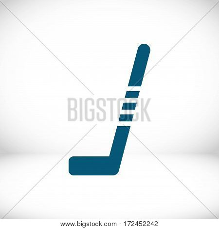 hockey stick icon stock vector illustration flat design