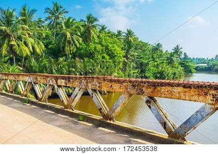 The Old Bridge On Gin Oya River