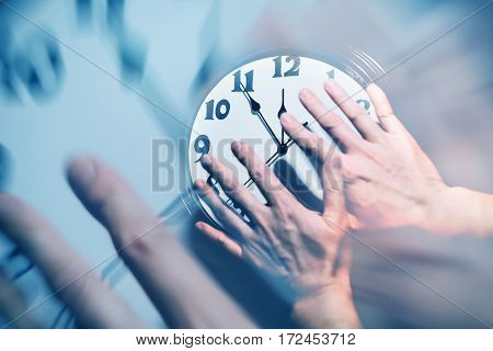 wall clock face concept of time control