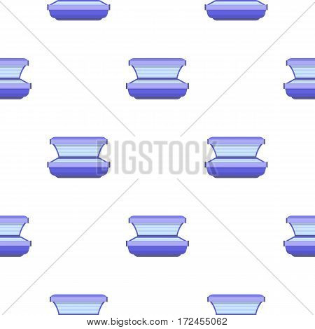 Tanning bed icon in cartoon style isolated on white background. Skin care pattern vector illustration.