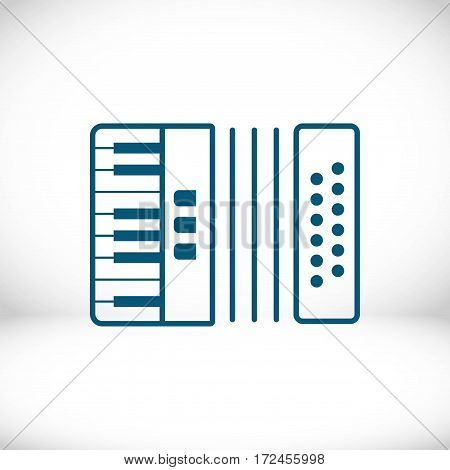 accordion icon stock vector illustration flat design