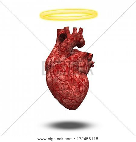 Angelic or innocent heart  3D Rendered