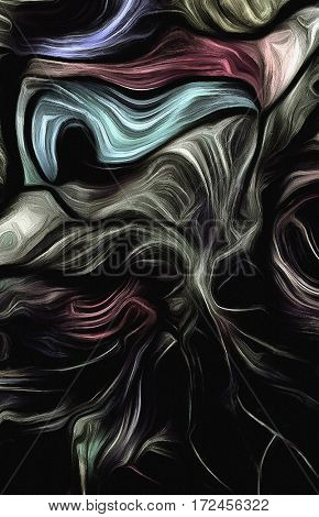 Fluid lines of color movement. Dull colors.