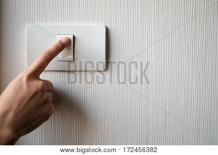 Turning On Or Off On Light Switch