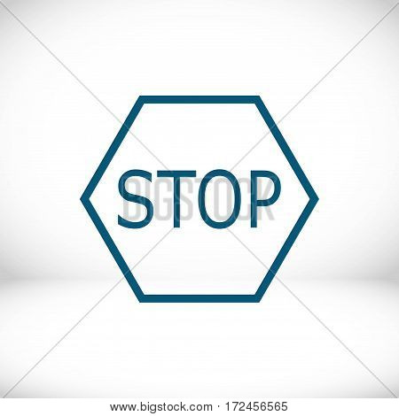 stop icon stock vector illustration flat design