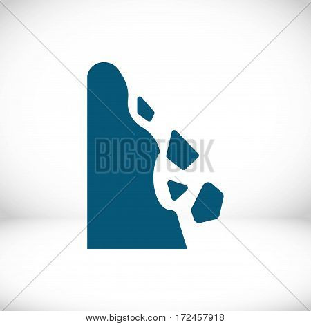 rockfall icon stock vector illustration flat design