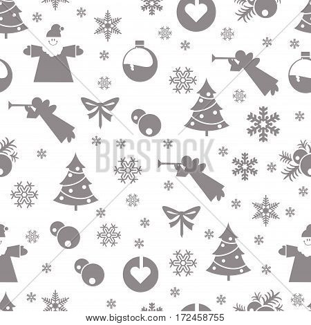 Christmas retro vintage seamless pattern. Endless texture can be used for printing onto fabric and paper or scrap booking surface textile web page background.