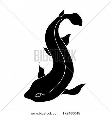 Catshark icon in black design isolated on white background. Sea animals symbol stock vector illustration.