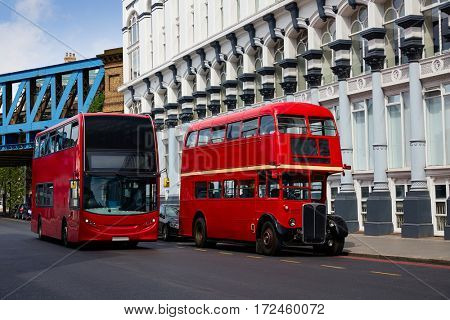 London Red Bus traditional old in England
