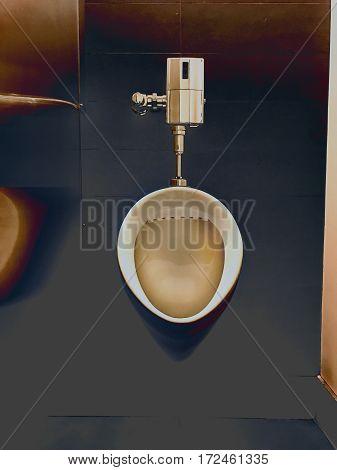 Urinal in men's bathroom, creative post prossing.