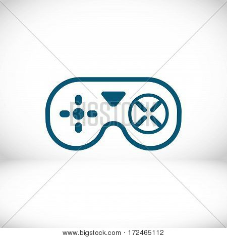 joystick icon stock vector illustration flat design