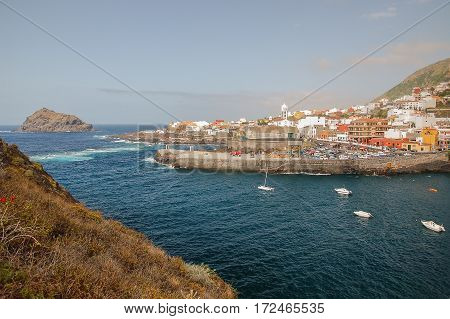 Picturesque Garachico town. Garachico is situated on north of Tenerife. It is the least spoilt coastal area of Tenerife with population over 5000 people.