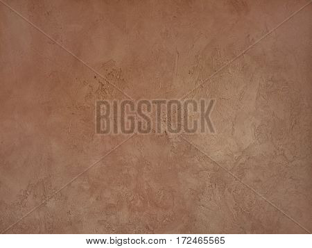 Brown spotted volumetric texture for background old plaster walls.