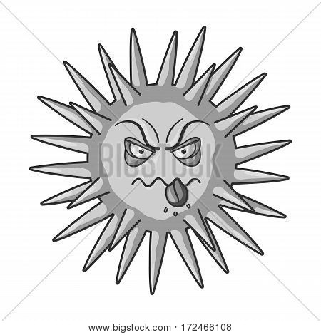 Green virus icon in monochrome design isolated on white background. Viruses and bacteries symbol stock vector illustration.