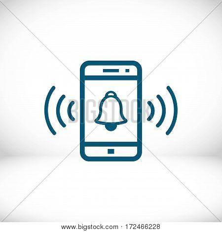 phone rings icon stock vector illustration flat design