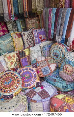 India style decorate item in souvenirs shop at pushkar rajasthan India